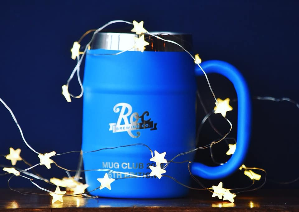 Blue Mug with Star Lights